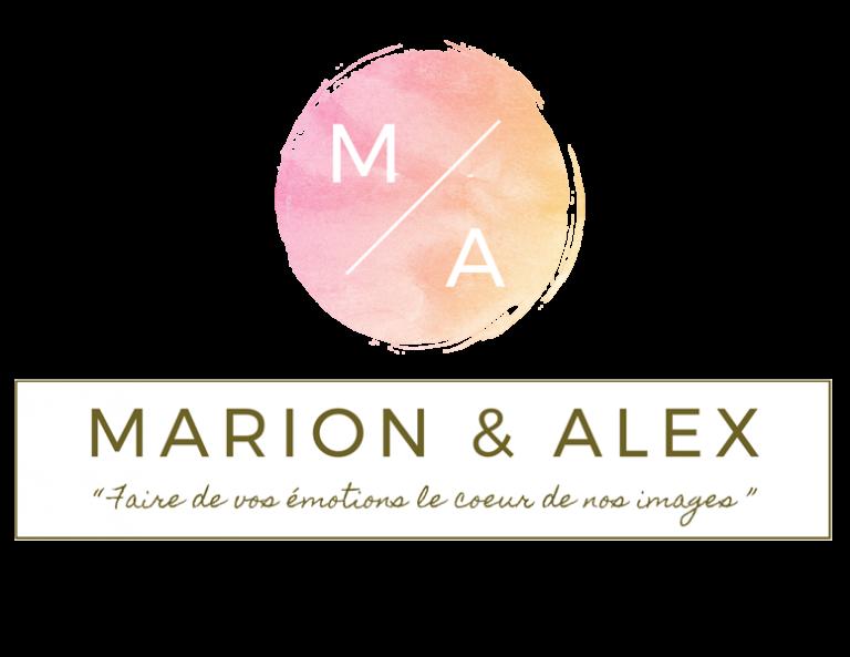 Marion & Alex photographe et vidéo de mariage - logo